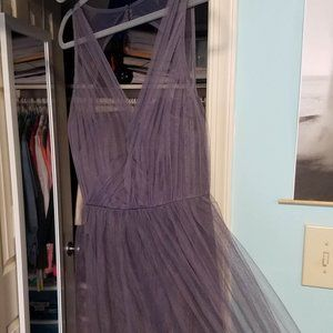 BRAND NEW Bill Levkoff Gray Bridesmaids Dress 10